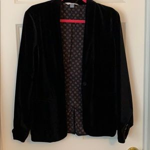Old Navy Velvet Blazer Jacket — Black, L